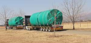 New water tanks on their way to Mwandi