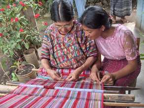 Mother and Daughter Weaving