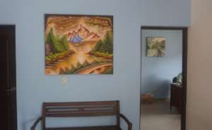 One of German's paintings (in foreground)