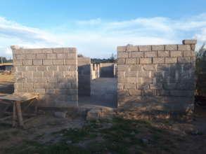 Dorm under construction - front view