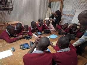 Teachers conducting an engineering class