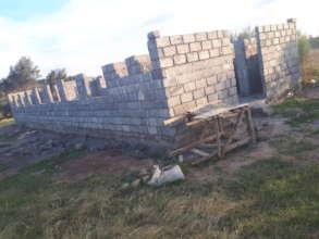 dorm under construction - side view