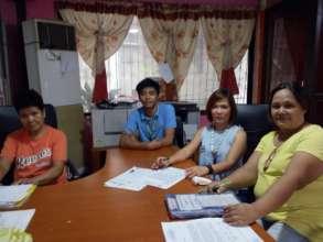 Partners discuss scheduled clean-up activities