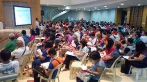 Barangay  reps get an orientation of the QA Tool