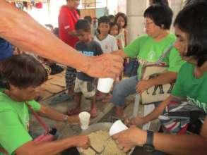 Soup kitchen of  partner fed affected children
