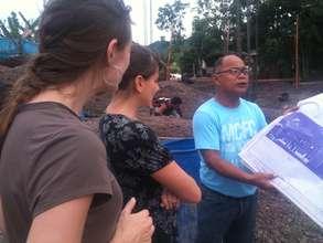 globagiving reps visit tacloban