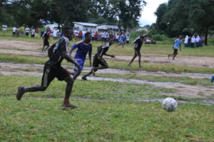 A football event in Mitengo Ward
