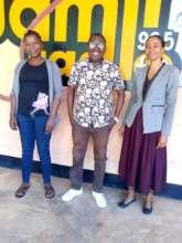 Health providers with SDA staff at Radio Jamii