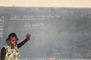 Madam Amina taught HE in Girls Action Club