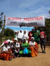 Students in Mtwara Marathon