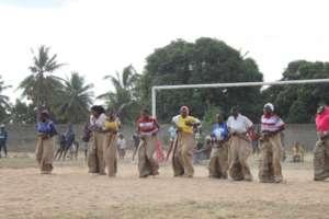 Sack running race in Nanyamba sport event