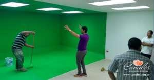 Preparing the film studio