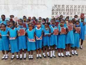 FAWE Girls School Thankful for School Supplies