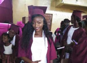 Mbalu at her graduation