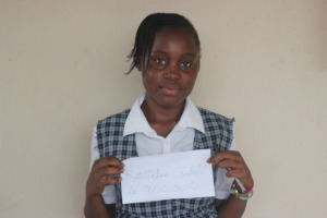 Rosaline is thankful for her scholarship