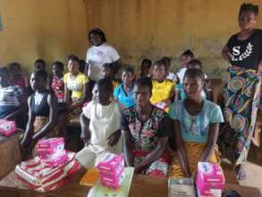 Sanitary pads distributed at first meeting