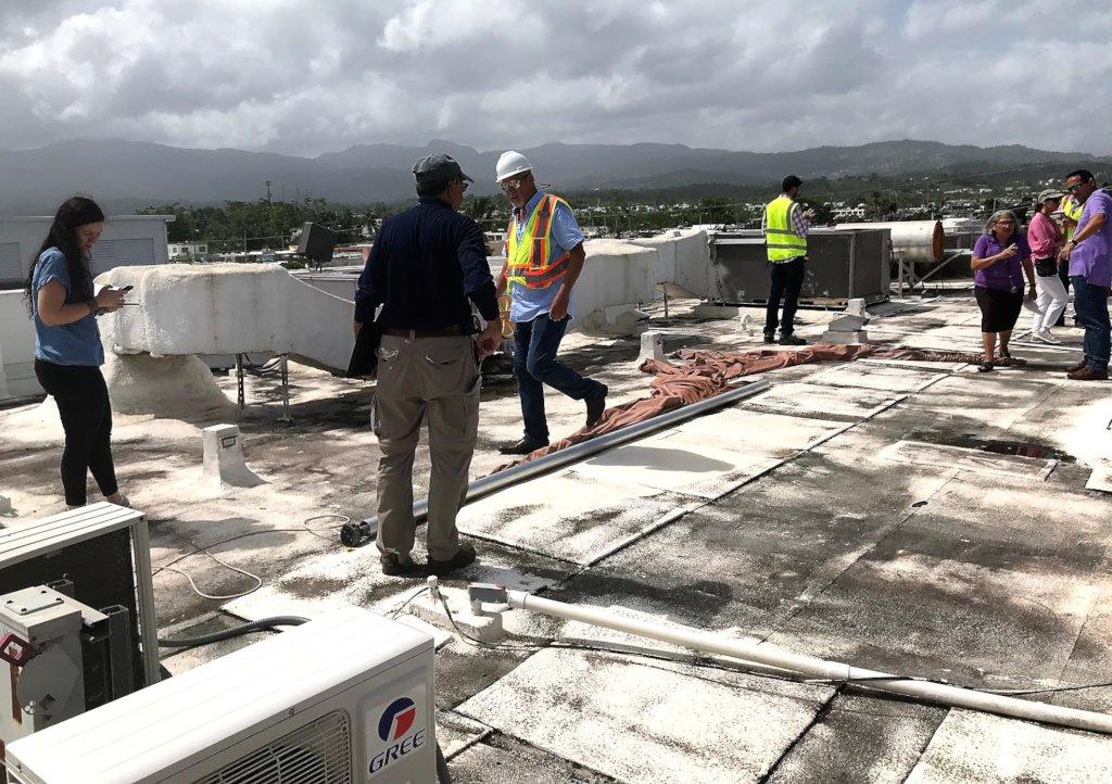 Repairs to Hogares Teresa Toda post H. Maria in PR