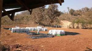 Lots of bagged biochar