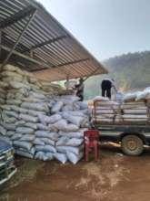 Mae Chaem Biochar packed for village distribution