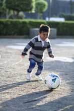 Donovan playing soccer: his dream