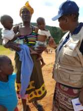 Zimbabwean mother and her three children