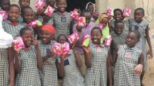 Schools sanitary pads distribution