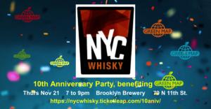Nov 21! Join NYC Whisky's 10th celebration benefit