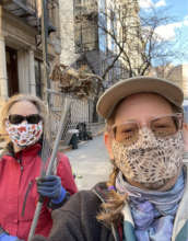 It's Spring! Pitching in on neighborhood cleanup!