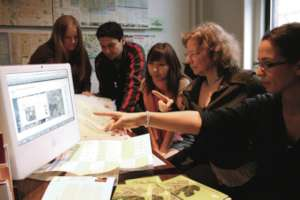 At work in the Green Map office