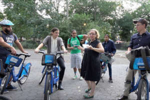 Try a shared bike on a Green Map tour