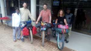 Sending off the biking team