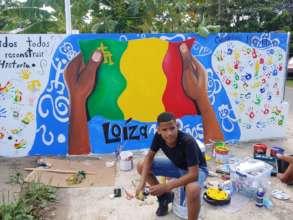 One of our murals, in Mini-Mini