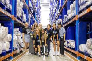 Visiting TAL Apparel's factory with 10 finalists