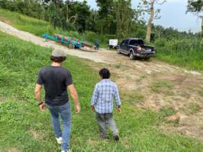 At the water well construction site in Humacao