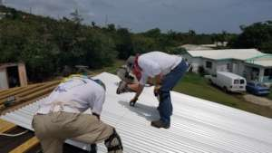 Finishing the roof