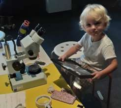 Magnification Exploration at Toddler Tuesday