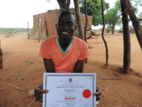 Jacob, with his Diploma in Agriculture
