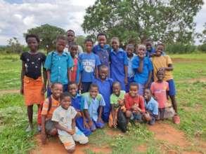 Pupils at Kamwi School. Mukuni Chiefdom