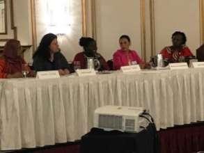 Nozi Samela speaking on panel