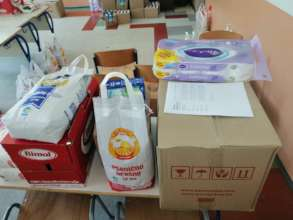 Content of a food parcel families receive