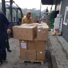 Food packages being distributed by our volunteers.