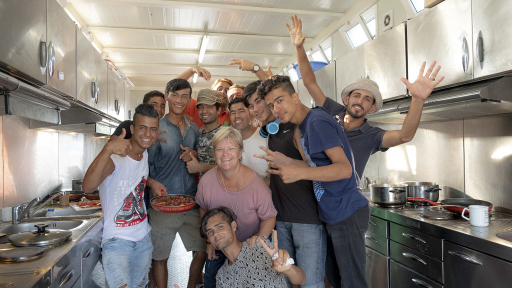 Support community kitchens for refugees on Lesvos