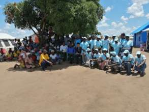 Group photo after hygiene promotion session
