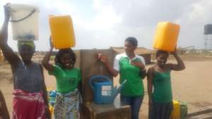 Ladies at a water supply point
