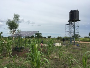 Solar-powered water supply system