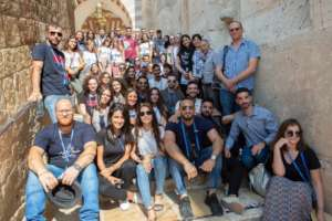 Group photo while touring Hebron in the West Bank