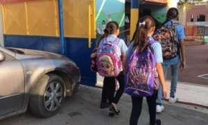 Arab children going to school. photo: Arab 48
