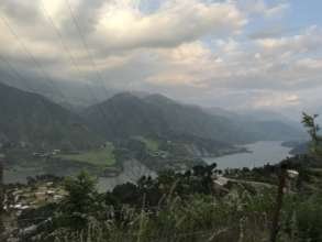 The hilly countryside of Uttarakhand state