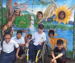Children preparing for the Animal Fair