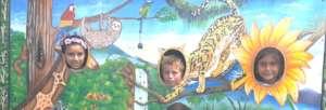 children enjoying the work of the activist artists